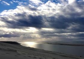 Tortured sky at Dune du Pilat