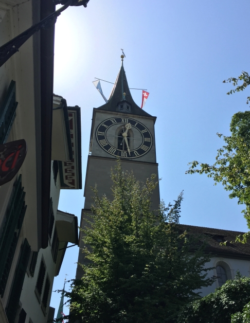 Clock tower old Zürich