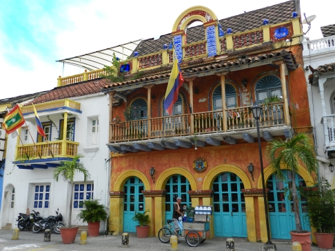 Typical houses in Cartagenas